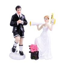 NICEXMAS Pair Soccer Theme Wedding Cake Topper Decoration