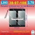 [L393] 3.7 В 6000 мАч, [3897108] Полимер литий-ионный/Литий-Ионный аккумулятор для планшетных пк, e-book, power bank
