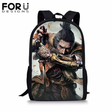 Game SEKIRO: Shadows Die Twice Backpack for Teens Students Back To School Bags Boy Kids Child Bookbag Daily Notebook