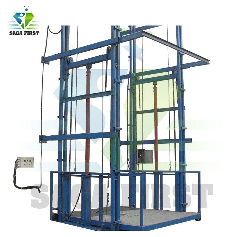 Residential Lifting Equipment 4.5m 1ton Hydraulic Material Lift