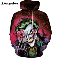 New Arrival Men Women Fashion Joker Hoodie Suicide Squad Deadshot All Over Print 3D Sweatshirt Men