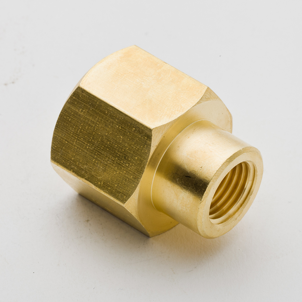 Pack of brass pipe fitting reducer coupling quot x