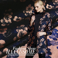 Autumn And Winter And The Wind Flower Jacquard Fabric Cloth Coat Dress Suit Wholesale 100cm 140cm