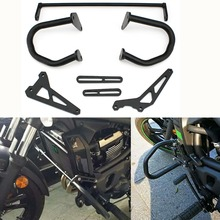 Black Lower Engine Highway Crash Bar Guard for 2015-2016 Kawasaki Vulcan VN 650