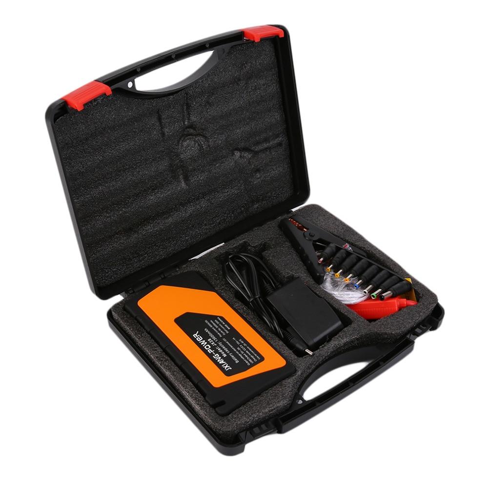 2018 12V 136000mah Multi Function 1set Car Charger Battery Jump Starter 4USB LED Light Auto Emergency Mobile Power Bank Tool Kit