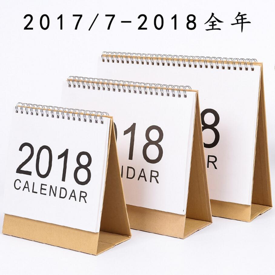 Muji Style Simple Desk Calendar 2017 2018 Rainlendar Weekly Planner To Do List Daily Desktop Book In From Office School