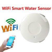 Smart home office intelligent wifi water leakage detector sensor with sensitive metal probe APP control water leakage flood