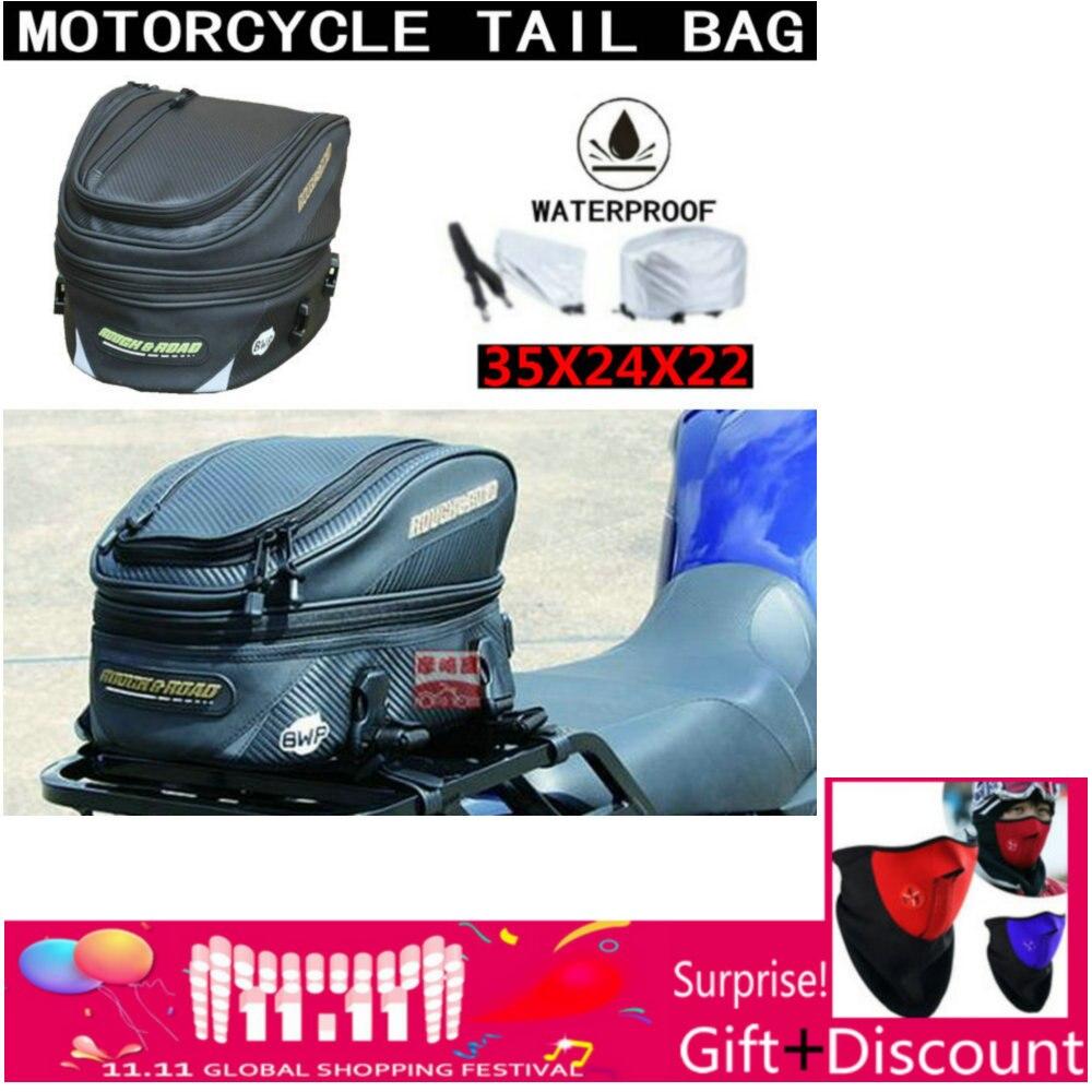 2018 nouveau rugueux et route RR9019 sac de queue en fibre de carbone moto arrière Sport sac de siège arrière sacs de queue de voiture