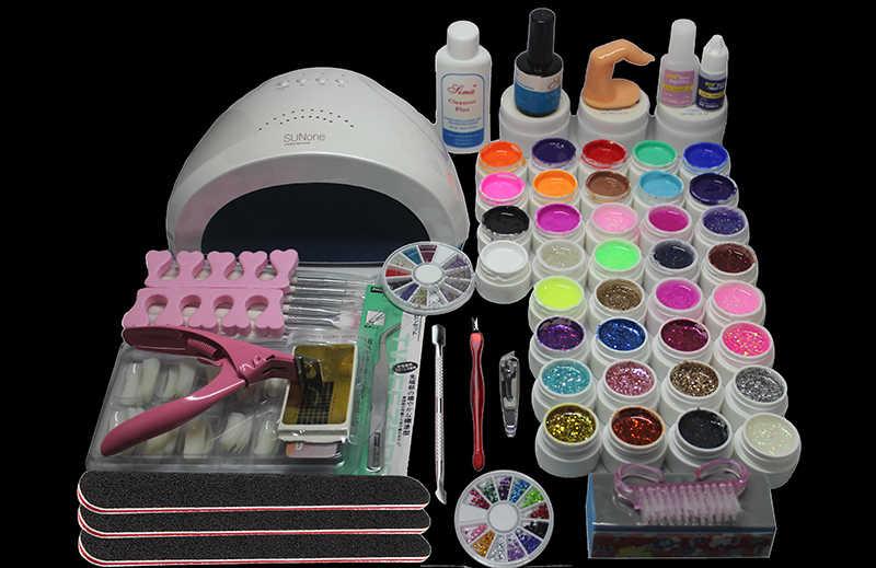 Pro Gel imbibé vernis haut et couche de Base gel ongles kit de vernis 48w lampe à ongles 36 couleurs art outils ensembles manucure ensemble # N311
