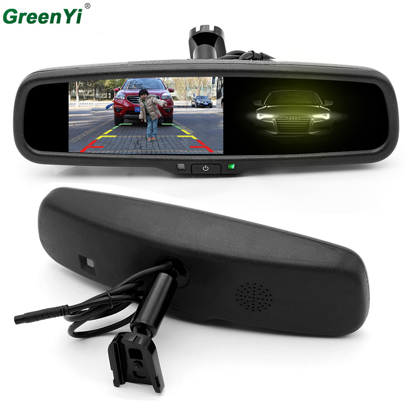 4.3 Auto Dimming Mirror Rearview Mirror Monitor with Original Bracket 2CH Video Input For Parking Monitor Assistance