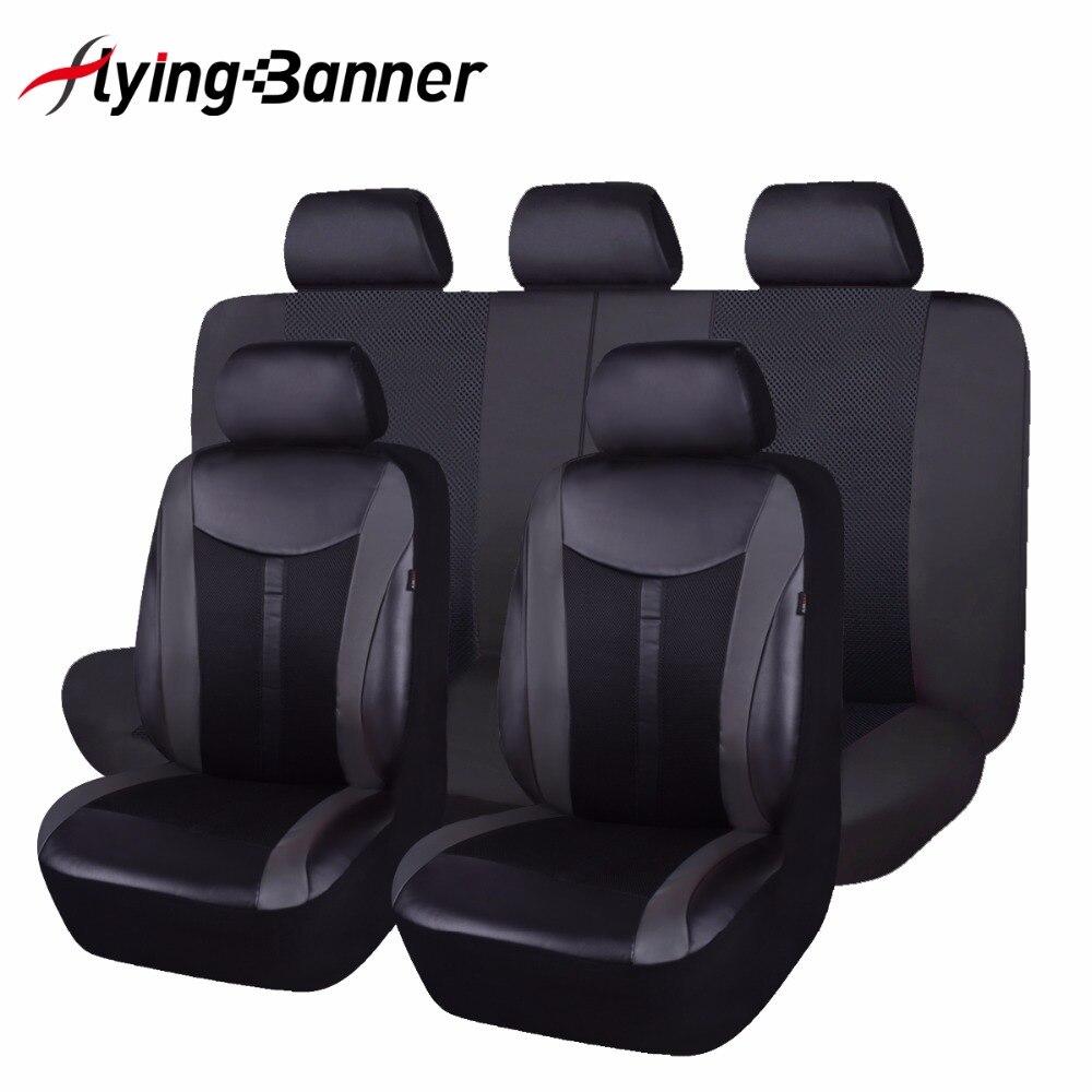 Pu Leather Automobiles <font><b>Seat</b></font> <font><b>Cover</b></font> Fit Most Vehicles <font><b>Seats</b></font> Interior Accessories 8 Color Car <font><b>Seat</b></font> Protector 6 Or 11PCS <font><b>Seat</b></font> <font><b>Cover</b></font>