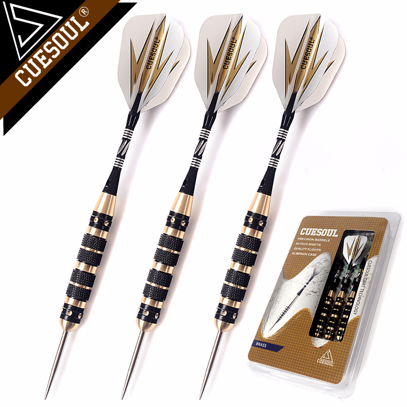 CUESOUL Professional Archer 20/23/26 Grams Steel Tip Darts -- Black Coating Brass Barrels