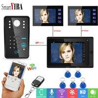 SmartYIBA Color Touch Screen Wireless WIFI Video Door Phone Wall Mounting Visual Video Intercom Speaker phone Intercom kit