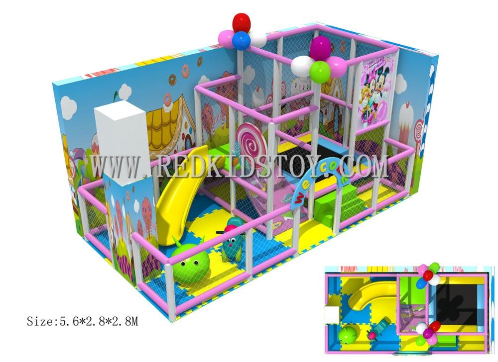 Parque Infantil De jardín De infantes hecho a medida, Parque De Juegos interior insuperable, HZ-5825a certificado CE