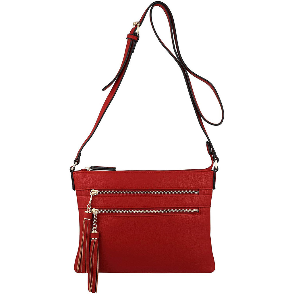 MUQGEW Women Hangbags Solid Color Tassel Shoulder Bags 2019 Design Women Handbags Tote Shoulder Bag Messenger White Red Black
