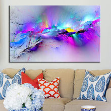 Wall picture Framed Modern multicoloured blue Canvas Wall Abstract Art wall decal Nordic Large Print for home decor gift(China)