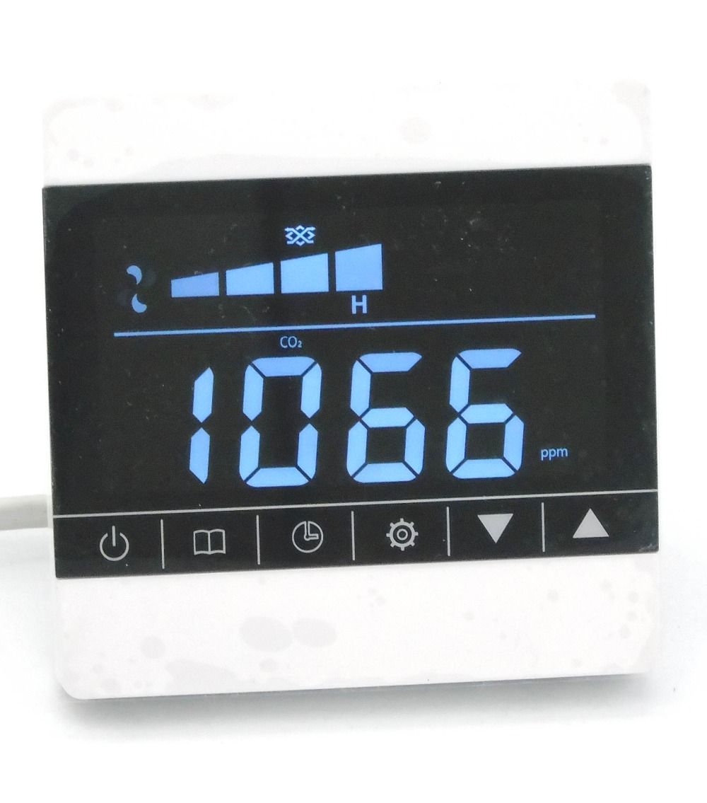 ФОТО greenhouse carbon dioxide detector filter screen alarm with relay control ventilation system