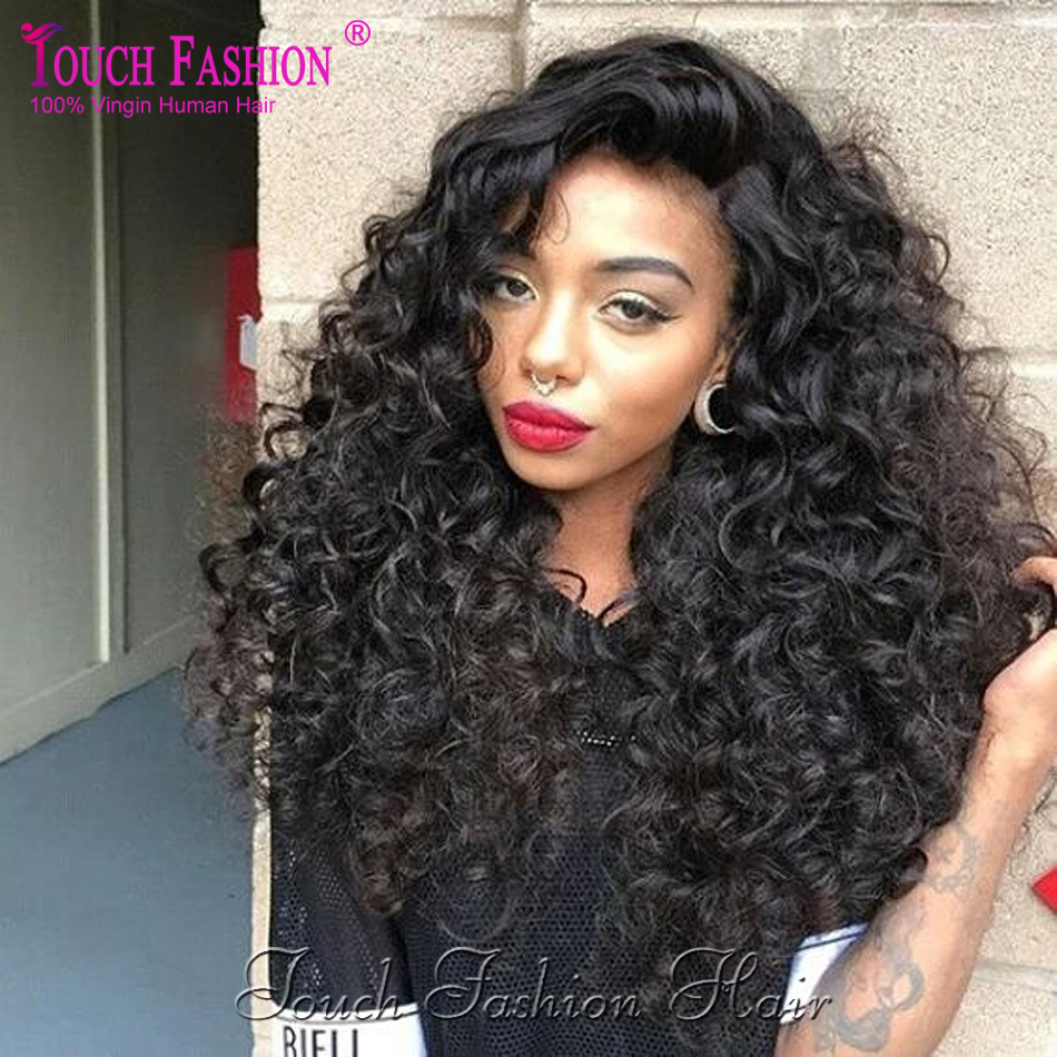 Glueless Full Lace Human Hair Wigs Curly Lace Front Wigs