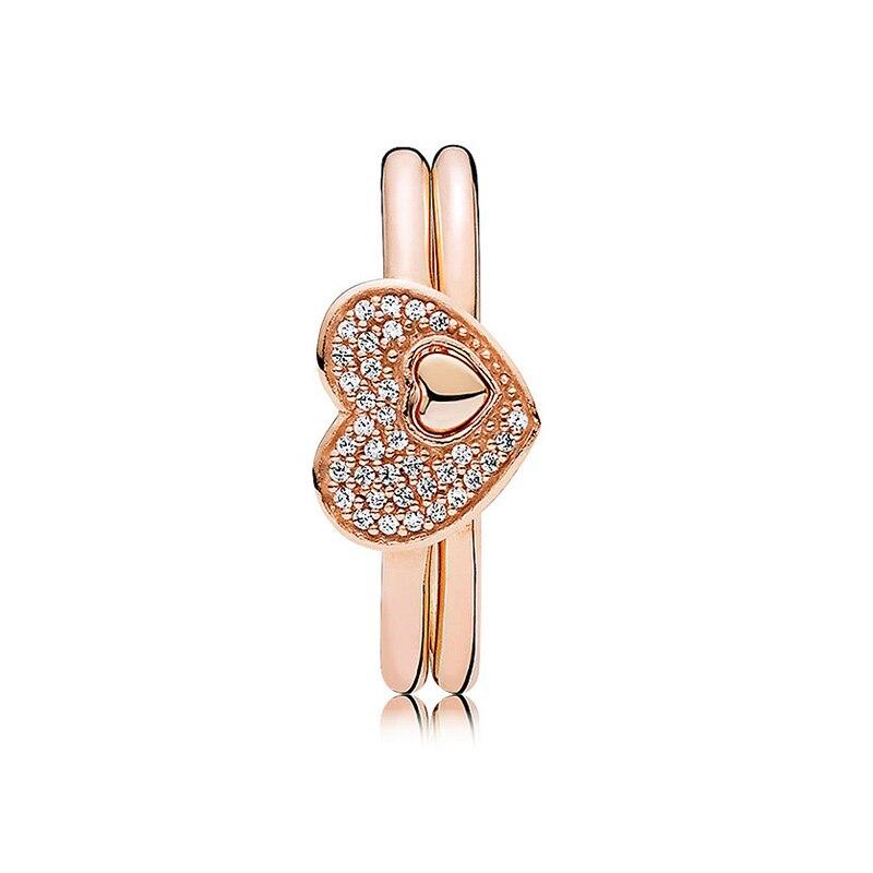 Kompetent Authentische 925 Sterling Silber Ring Rose Errötende Romantik Puzzle Geschenk Set Ringe Für Frauen Hochzeit Party Geschenk Fein Diy Schmuck Schmuck Sets