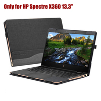 PU Leather Detachable Case Folio Stand Hard Cover for HP Spectre x360 13.3 inch 2 in 1 Laptop Sleeve