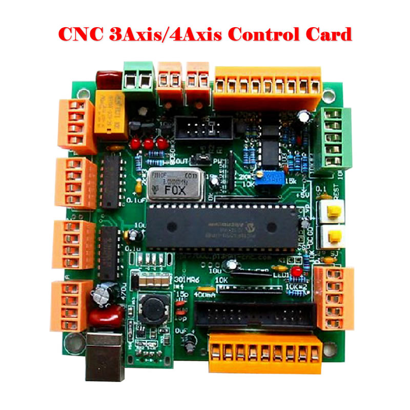 4 Axis USB CNC Controller Interface Board CNCUSB MK1 Substitute MACH3 freeshipping 0 to 10 vpwm spindle speed controller mach3 interface board