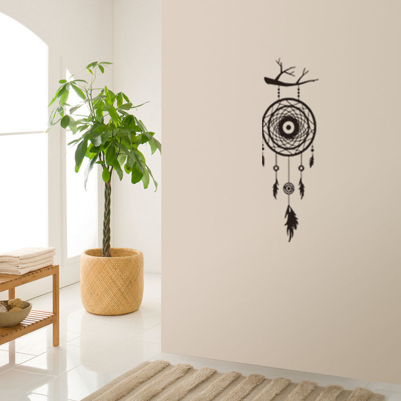 Wall Stickers Dream Catcher Feathers Wall Sticker Decal Mural Art Vinyl Decals Home Decoration for Bedroon Living Room Fashion