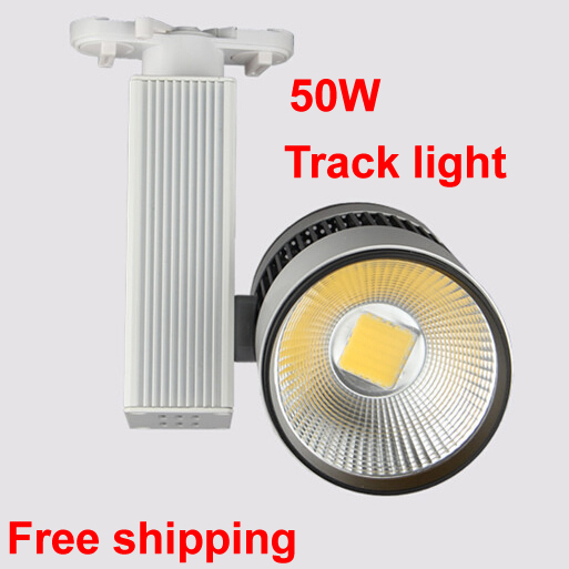 COB LED track light 50W 5500LM 110V 220V Track rail led spot light Clothing Industrial lighting led track light50wled exhibition hall cob track light to shoot the light clothing store to shoot the light window