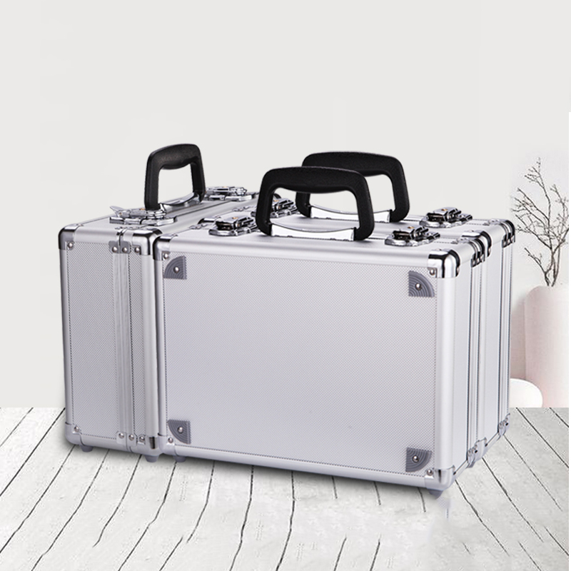 Portable Toolbox Tool Case Aluminium Alloy Tool Box Home Storage Box Suitcase Travel Luggage Storage With Sponge