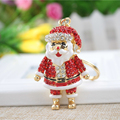 Funny Father Christmas Metal Keychains Santa Claus Gift XMAS Decoration Keyrings Key Chains Accessories Childen Gifts