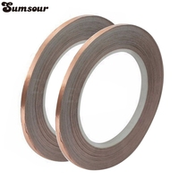 New 2 Roll Single Conductive Copper Foil Tape Strip Adhesive 10mm X 30m High Temperature Tape C0018 [category]