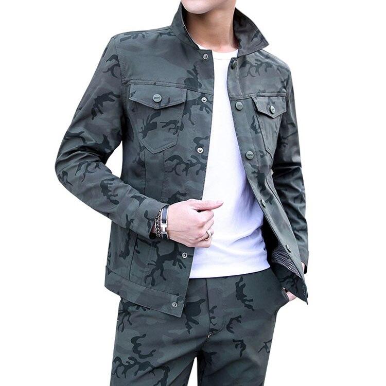 Printemps automne hommes veste de Camouflage décontracté hommes vêtements militaires manteaux Chaqueta Hombre HT079