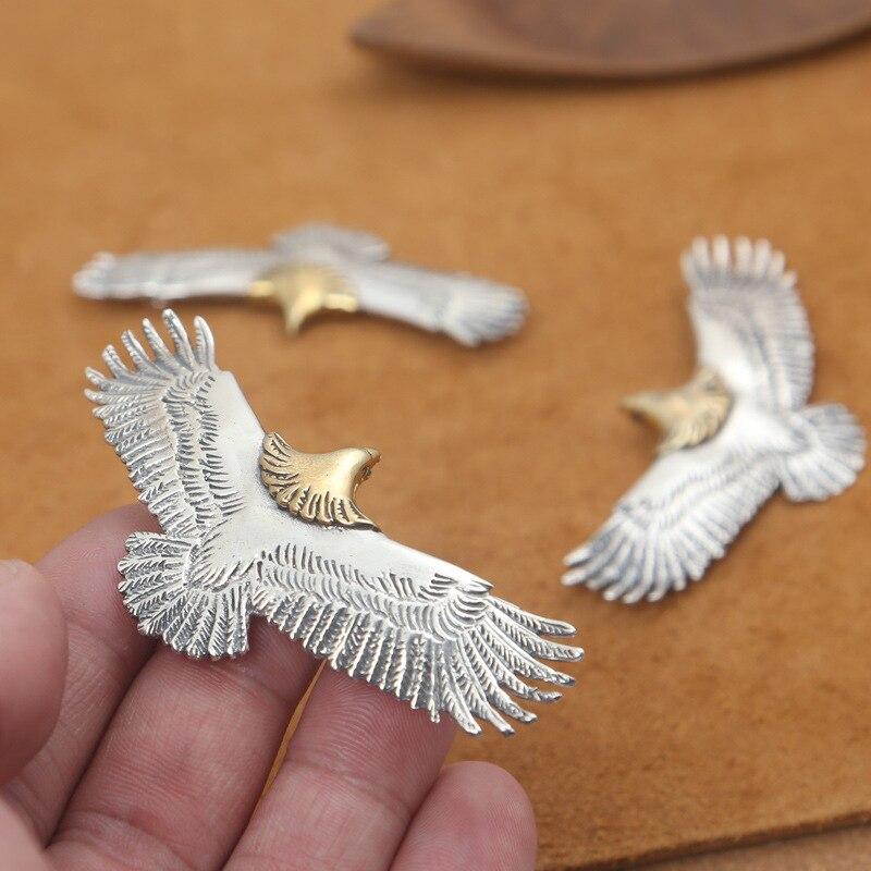 S925 Sterling Silver Takahashi Goro Jewelry Retro Thai Silver Men And Women Popular Eagle Pendant