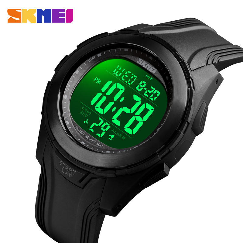 Men Sport Watch Luxury Brand <font><b>SKMEI</b></font> Sports Watches Fashion Countdown Stopwatch Wristwatch Waterproof Digital Mens Bracelet Clock image