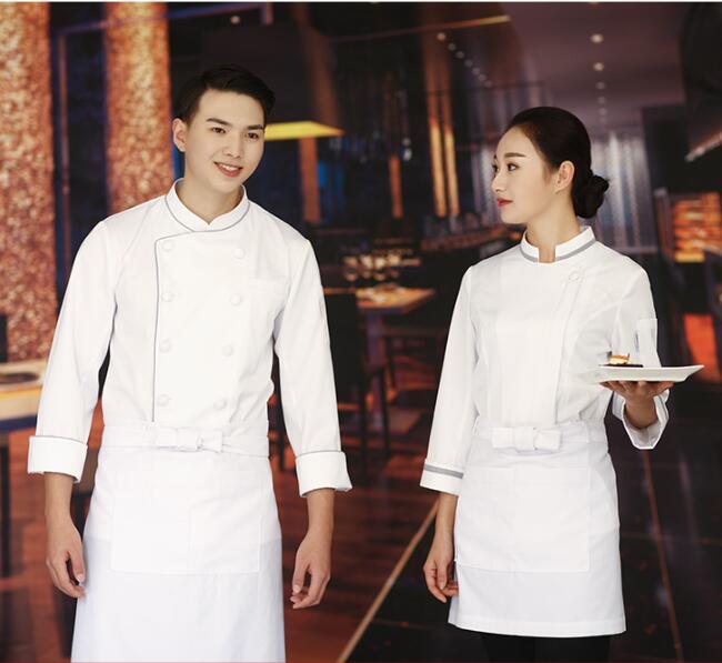 2017 nouveau mode haute qualité Restaurant Chef uniforme à manches longues blanc Chef vêtements de travail