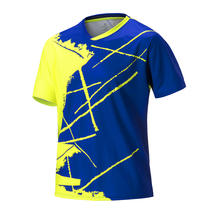 Мужская одежда для настольного тенниса, рубашка для бадминтона, рубашка для настольного тенниса, спортивная одежда для бадминтона, спортивные тренировочные футболки для бадминтона, большие размеры