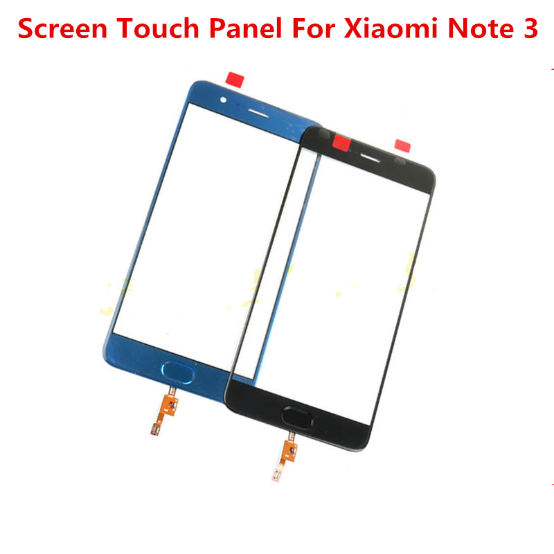 Note3 Touchscreen Für Xiao mi mi Hinweis 3 Front Glas Abdeckung LCD Display <font><b>Screen</b></font> Outer Panel Objektiv Digitizer Sensor reparatur Teile image