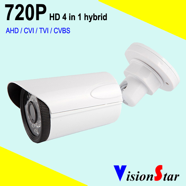 Home video surveillance bullet camera HD 720P AHD / CVI / TVI / CVBS hybrid switched by OSD menu 2mp 1080p surveillance ptz ir speed dome camera 10x optical zoom cvi ahd tvi cvbs osd menu transfer hd coaxial control rs485
