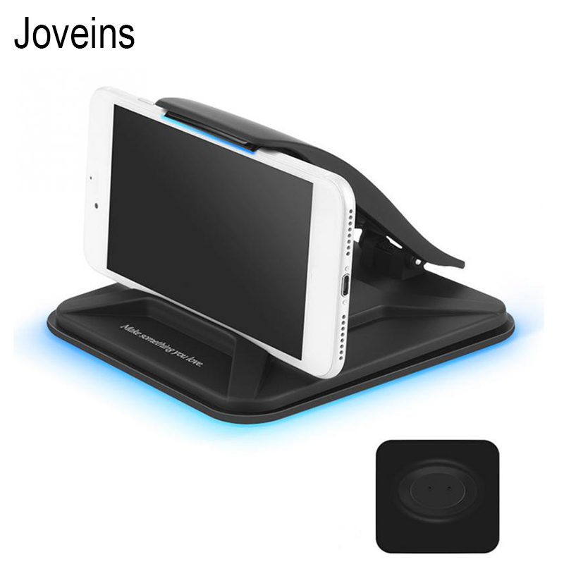 JOVEINS Sticky Car Phone Holder Dashboard Desktop Mount Anti Slip Mobile Phone Stand For Tablet GPS with Spring Loaded Clamp mobile phone
