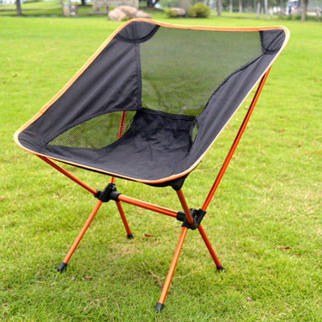 Ultra Light Beach Chair Outdoor Camping Portable Folding Lightweight For Hiking Fishing Picnic Barbecue Vocation
