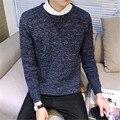 Новая Осень Зима О-Образным Вырезом кашемир Твист свитер мужчин кашемира с длинными рукавами свитер свободные свитера сплошной цвет свитера пуловеры
