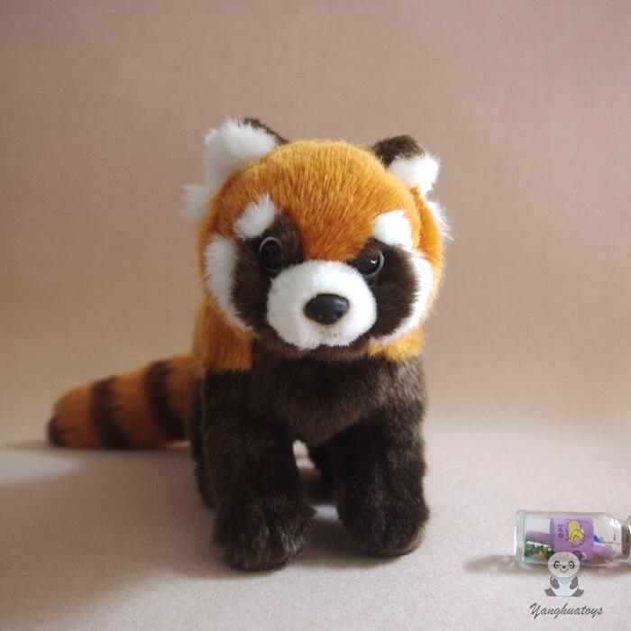 Simulation En Peluche Rouge Panda Enfant Jouet Belle Peluche Raton Laveur Poupée Jouets Cadeau D'anniversaire Poupées