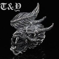 T & y серебро чистое серебро 925 тайское серебрянное кольцо мужское кольцо