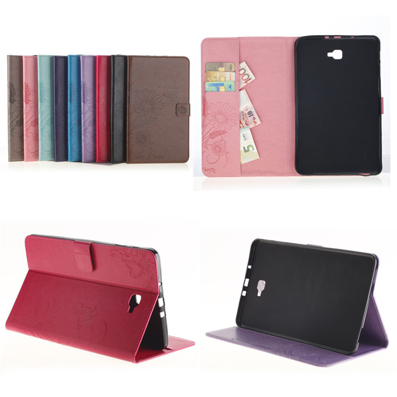 GY Luxury PU Leather Flip Stand Case For Samsung Galaxy Tab A 10.1 inch 2016 T585C T580N SM-T580 T585 Tablet Wallet Cover