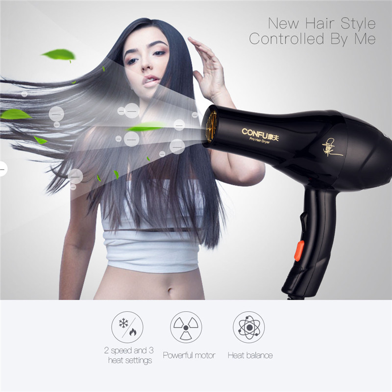 Barbershop Home High Power Hair Dryer Mute Blowing Machine Negative Ions Fast Hair Dryer Strong Motor Speed Temperature Adjust dryer pet dog professional hair dryer ultra quiet high power stepless regulation of the speed drying machine 2400 w