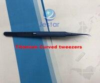 Professional Repair 0 15mm Fine Tip Titanium Alloy Stainless Steel Repair Strong Fingerprint Curved Tweezers Precise
