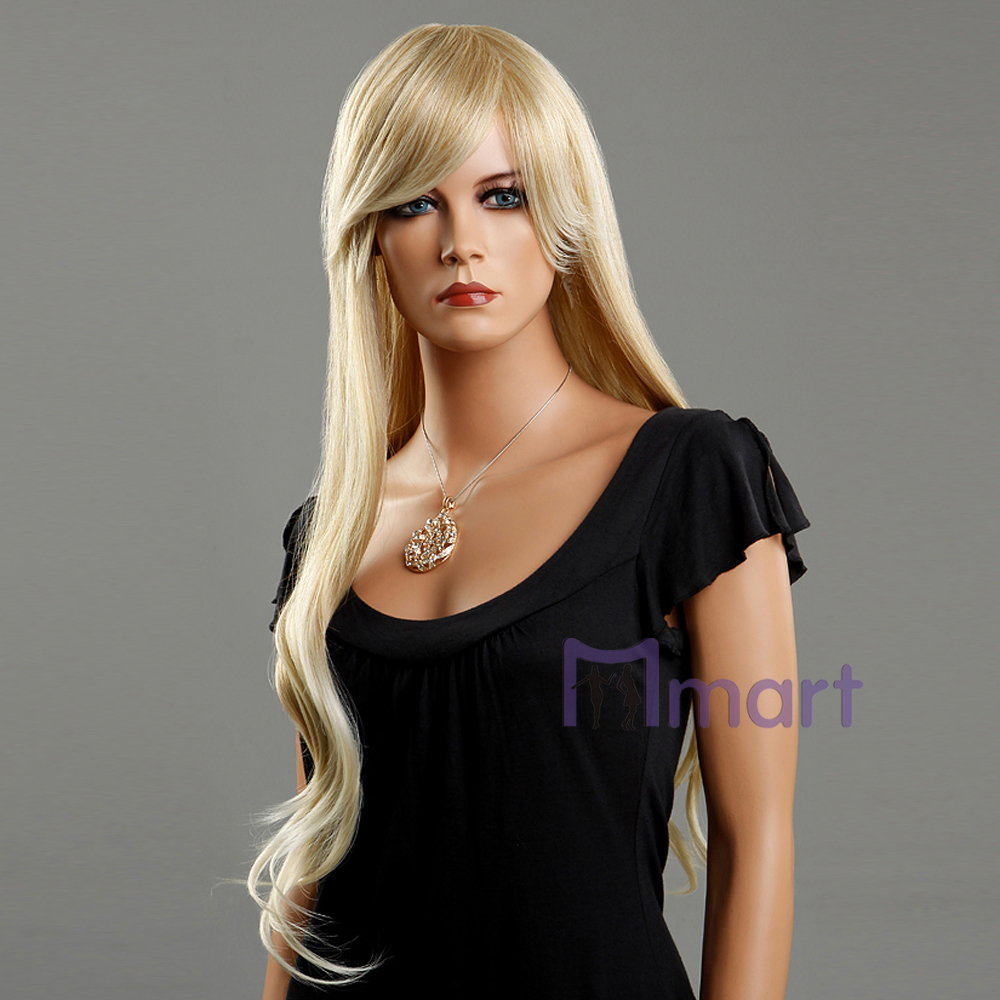 Hot Fashion Style Long Young Sexy Revlon Bright Blonde Realistic Women Wavy Hair Wigs -2701