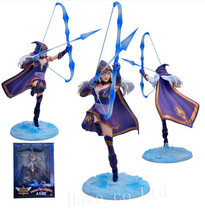 Game LOL Marksman The Frost Archer Ashe Original PVC Action Figure Figurine