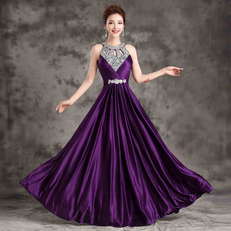 Wedding Party Dresses yellow pink purple royal blue black red gold ...