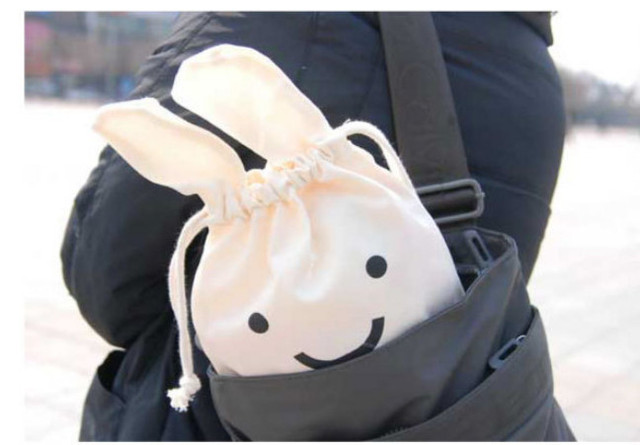 a06ed63c6284 US $9.0 |New Ninja rabbit style drawstring bag/ lovely drawstring pouch  /kids schoolbag/Snack bags / gift pouch 5pcs/lot wholesale-in Storage Bags  ...