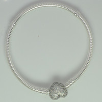 925 Standard Sterling Silver Beads Of Love Original Bangle And Necklace Jewelry